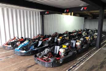 Storing Go Karts in a Shipping Container