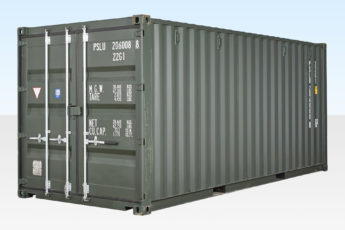 20ft Shipping Container (New)- Green RAL 6007 - Exterior